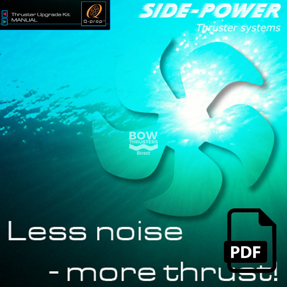 side power bow thrusters less noise thrust upgrade propellers