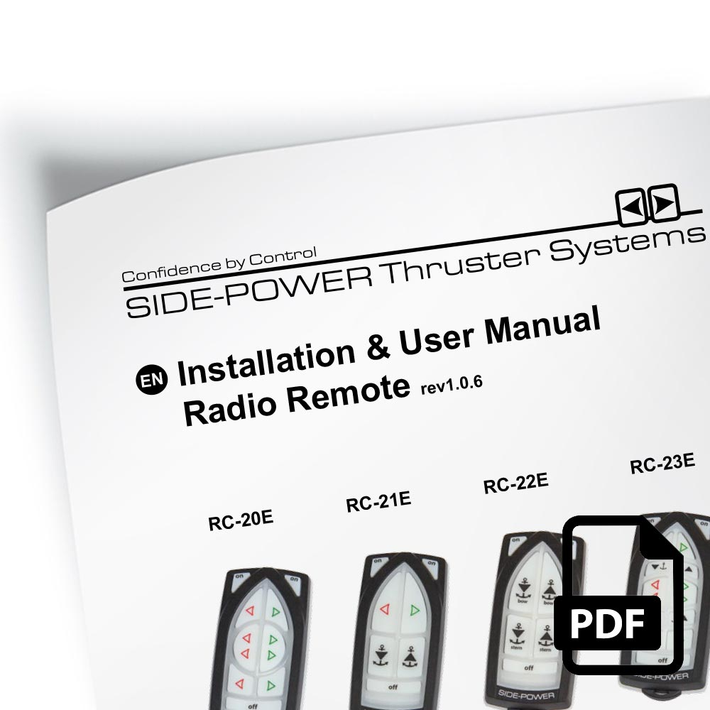 bow thruster systems installation user manual radio remote control kit